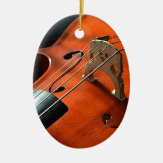 Ornamento De Cerâmica Instrumento amarrado cordas da madeira do