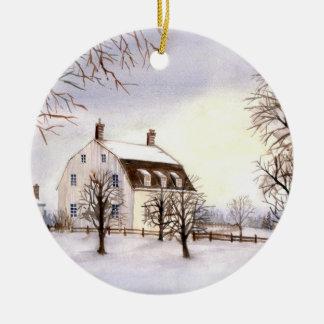 Ornamento De Cerâmica Inverno em Nova Inglaterra pelo Greenfield de
