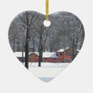 Ornamento De Cerâmica Inverno no parque