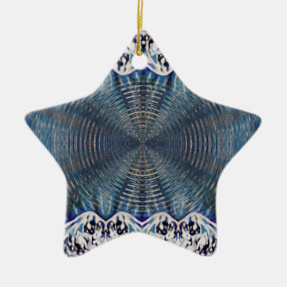Ornamento De Cerâmica Inverno psicadélico