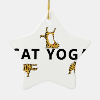 Ornamento De Cerâmica ioga do gato