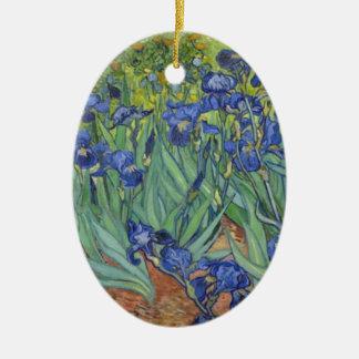 Ornamento De Cerâmica Íris azuis