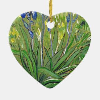 Ornamento De Cerâmica Íris da arte de Van Gogh, reprodução acrílica