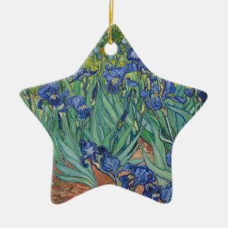 Ornamento De Cerâmica Íris de Vincent van Gogh que pintam o trabalho de
