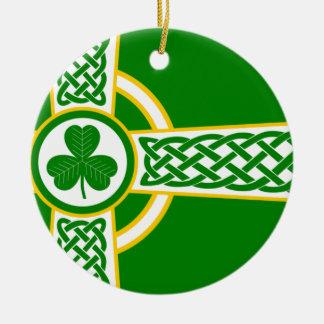 Ornamento De Cerâmica Irish_Celtic_Cross