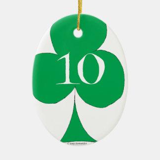 Ornamento De Cerâmica Irlandês afortunado 10 dos clubes, fernandes tony