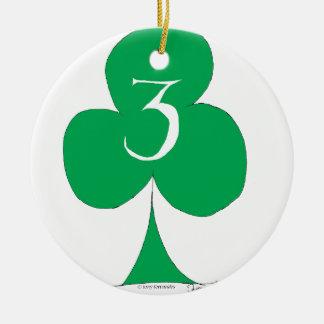 Ornamento De Cerâmica Irlandês afortunado 3 dos clubes, fernandes tony