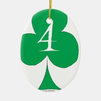 Ornamento De Cerâmica Irlandês afortunado 4 dos clubes, fernandes tony