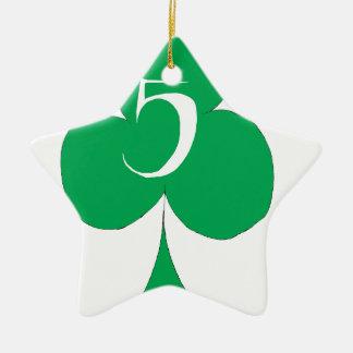 Ornamento De Cerâmica Irlandês afortunado 5 dos clubes, fernandes tony