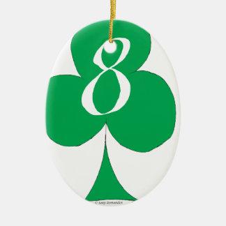 Ornamento De Cerâmica Irlandês afortunado 8 dos clubes, fernandes tony