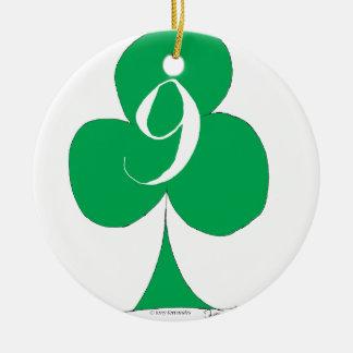 Ornamento De Cerâmica Irlandês afortunado 9 dos clubes, fernandes tony