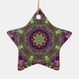 Ornamento De Cerâmica Ironweed gigante, caleidoscópio do Wildflower