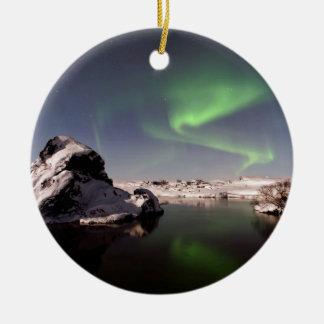 Ornamento De Cerâmica Islândia no inverno