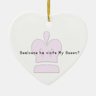 Ornamento De Cerâmica Italiano-Rainha