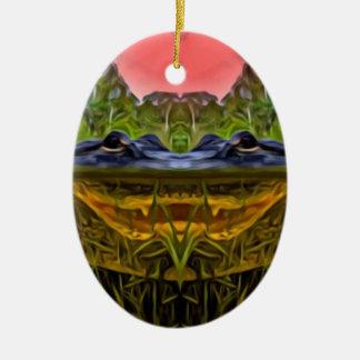 Ornamento De Cerâmica Jacaré Trippy