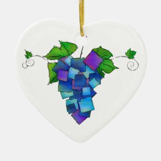 Ornamento De Cerâmica Jamurissa - uvas quadradas