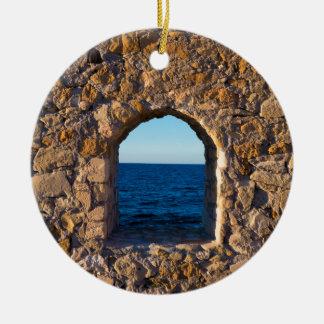 Ornamento De Cerâmica Janela ao Mar Egeu