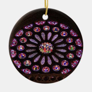 Ornamento De Cerâmica Janela da catedral de Leon, EL Camino, espanha
