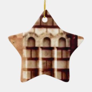Ornamento De Cerâmica janela marrom do bloco