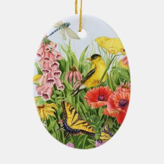 Ornamento De Cerâmica Jardim do Goldfinch