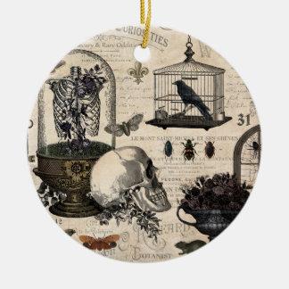Ornamento De Cerâmica Jardim moderno do Dia das Bruxas do vintage