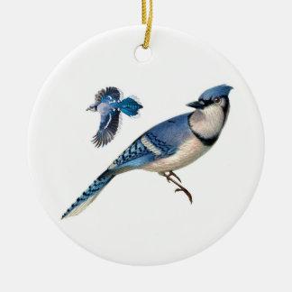 Ornamento De Cerâmica Jay azul