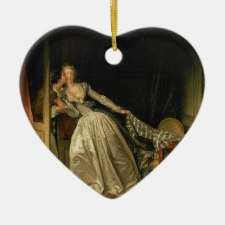 Ornamento De Cerâmica Jean-Honore Fragonard - o beijo roubado - belas