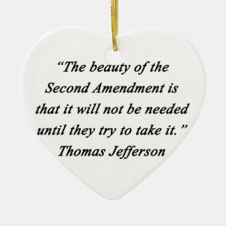 Ornamento De Cerâmica Jefferson - segunda alteração
