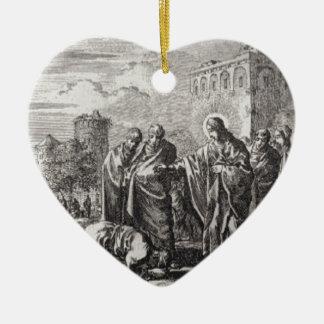 Ornamento De Cerâmica Jesus confronta 12 apóstolos