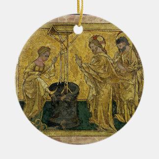 Ornamento De Cerâmica Jesus e a mulher do samaritano no poço