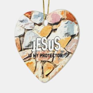 Ornamento De Cerâmica JESUS protege-me