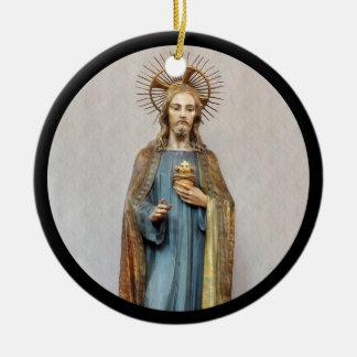 Ornamento De Cerâmica Jesus que guardara o coração sagrado