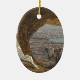 Ornamento De Cerâmica Jesus tentou na região selvagem