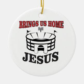 Ornamento De Cerâmica Jesus traz-nos home