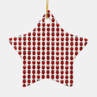 Ornamento De Cerâmica Joaninhas pequenos vermelhos