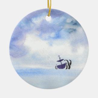 Ornamento De Cerâmica Jogado pela tempestade