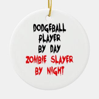 Ornamento De Cerâmica Jogador de Dodgeball do assassino do zombi