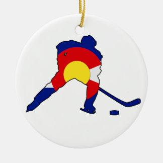 Ornamento De Cerâmica Jogador de hóquei de Colorado