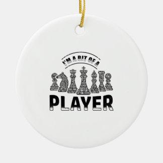 Ornamento De Cerâmica Jogador de xadrez