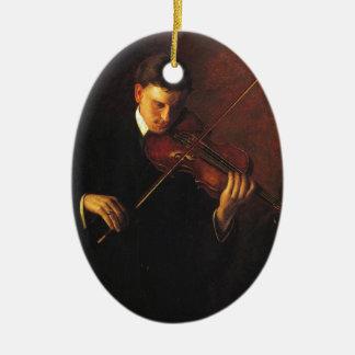 Ornamento De Cerâmica Jogador do violino