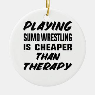 Ornamento De Cerâmica Jogar a luta de Sumo é mais barato do que a