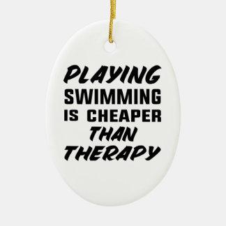Ornamento De Cerâmica Jogar a natação é mais barato do que a terapia