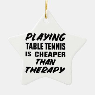 Ornamento De Cerâmica Jogar o ténis de mesa é mais barato do que a