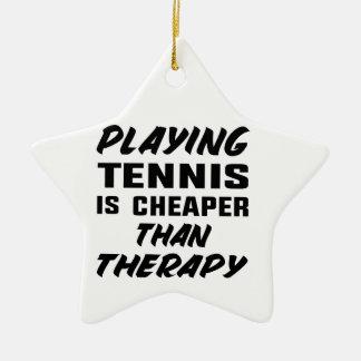 Ornamento De Cerâmica Jogar o tênis é mais barato do que a terapia