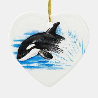 Ornamento De Cerâmica Jogo da orca