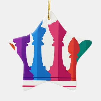 Ornamento De Cerâmica Jogo de xadrez
