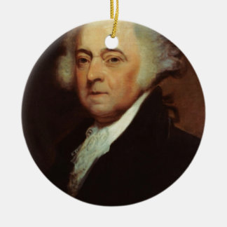 Ornamento De Cerâmica John Adams