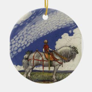 """Ornamento De Cerâmica John Bauer - """"no mundo largo """""""