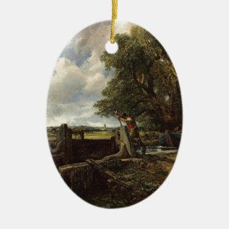 Ornamento De Cerâmica John Constable - o fechamento - paisagem do campo