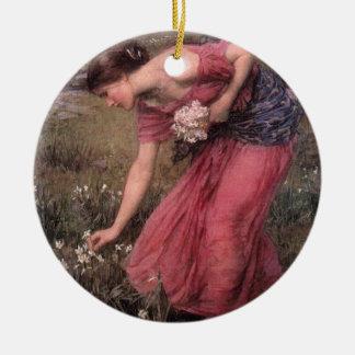 Ornamento De Cerâmica John William Waterhouse - narciso - belas artes